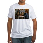Card Players Fitted T-Shirt