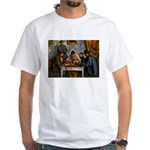 Card Players White T-Shirt