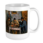 Card Players Large Mug