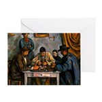 Card Players Greeting Card