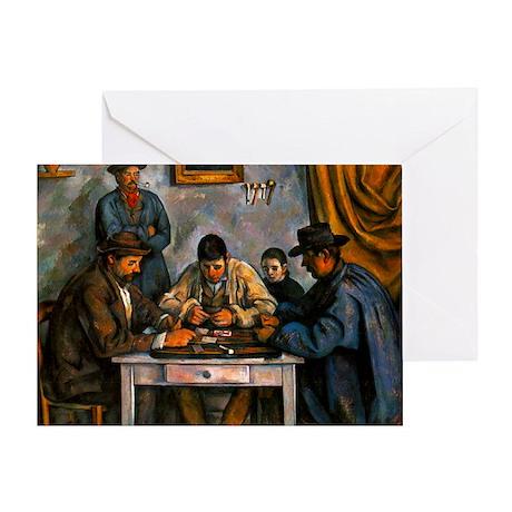 Card Players Greeting Card