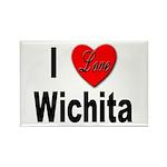 I Love Wichita Kansas Rectangle Magnet (10 pack)