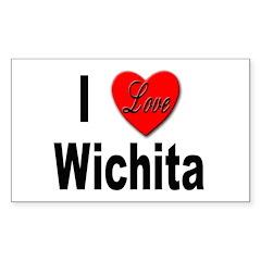 I Love Wichita Kansas Rectangle Decal