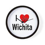 I Love Wichita Kansas Wall Clock