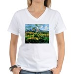 Mt. San Victoire Women's V-Neck T-Shirt