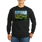 Mt. San Victoire Long Sleeve Dark T-Shirt