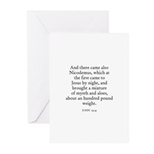 JOHN  19:39 Greeting Cards (Pk of 10)