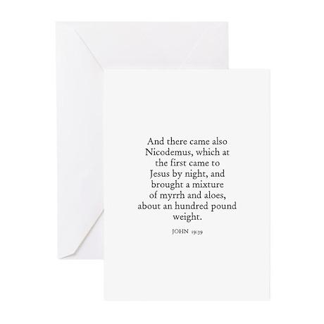 JOHN 19:39 Greeting Cards (Pk of 10)