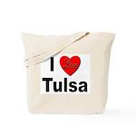 I Love Tulsa Oklahoma Tote Bag