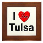 I Love Tulsa Oklahoma Framed Tile