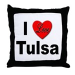 I Love Tulsa Oklahoma Throw Pillow