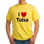 I Love Tulsa Oklahoma Yellow T-Shirt