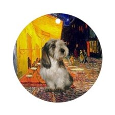 Terrace Cafe & Petit Basset Ornament (Round)