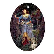 Ophelia & Petit Basset Oval Ornament