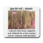 Grandpa Owen Patriot Mousepad