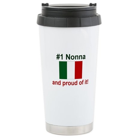 #1 Nonna (Grandmother) Stainless Steel Travel Mug