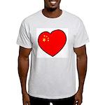 China Heart Ash Grey T-Shirt