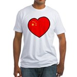 China Heart Fitted T-Shirt