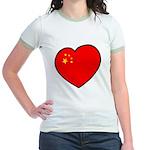 China Heart Jr. Ringer T-Shirt