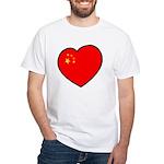 China Heart White T-Shirt