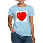 China Heart Women's Pink T-Shirt