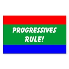 Progressives Rule Rectangle Decal