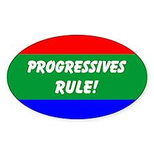Progressives Rule Oval Decal