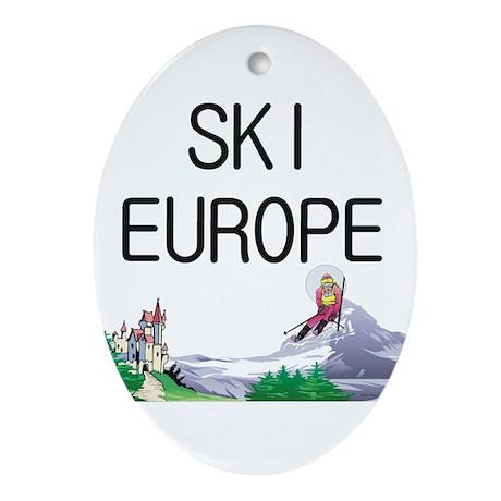 TOP Ski Europe Ornament (Oval)