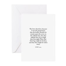 JOHN  19:31 Greeting Cards (Pk of 10)