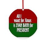 Evan Bayh 2008 Christmas ornament