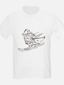 Skier Cat T-Shirt