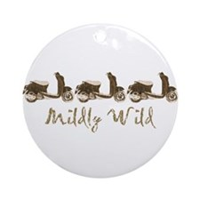 Mildly Wild Ornament (Round)