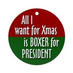 2008 Boxer for Xmas ornament