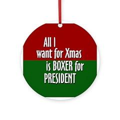2008 Boxer for Xmas ornament