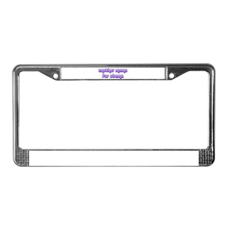Another Mama for Obama - License Plate Frame