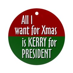 John Kerry 2008 Christmas ornament