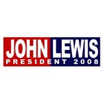 John Lewis President 2008 (bumper sticker)