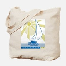 Lake George Sail Boat - Tote Bag