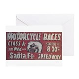 Motorcycle races Greeting Cards (20 Pack)