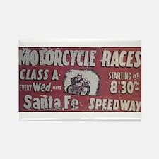 Santa Fe Speedway Rectangle Magnet
