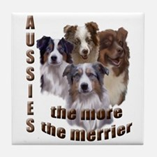 Many Aussies Tile Coaster