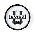 Naked University Wall Clock