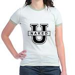 Naked University Jr. Ringer T-Shirt
