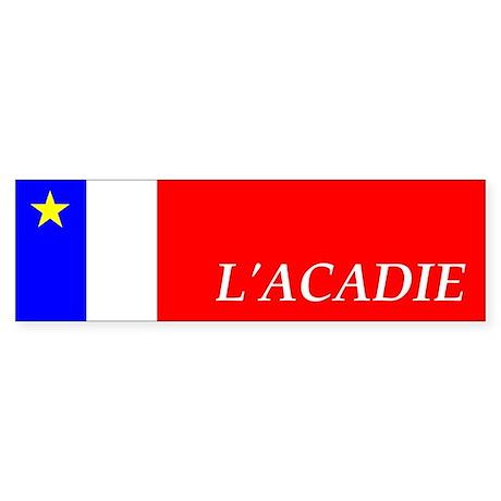 Flag of Acadia Bumper Sticker (FR)
