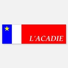 Flag of Acadia Bumper Sticker (FR)