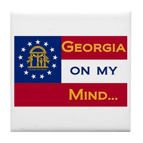 Georgia on my mind Tile Coaster