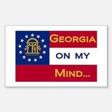 Georgia on my mind Rectangle Decal