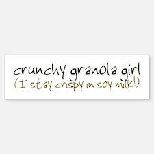 Crunchy Granola Girl - Bumper Bumper Bumper Sticker