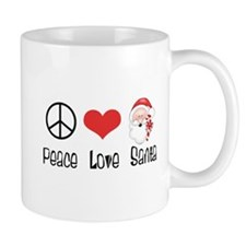 Peace Love Santa Mug