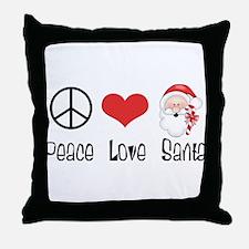 Peace Love Santa Throw Pillow
